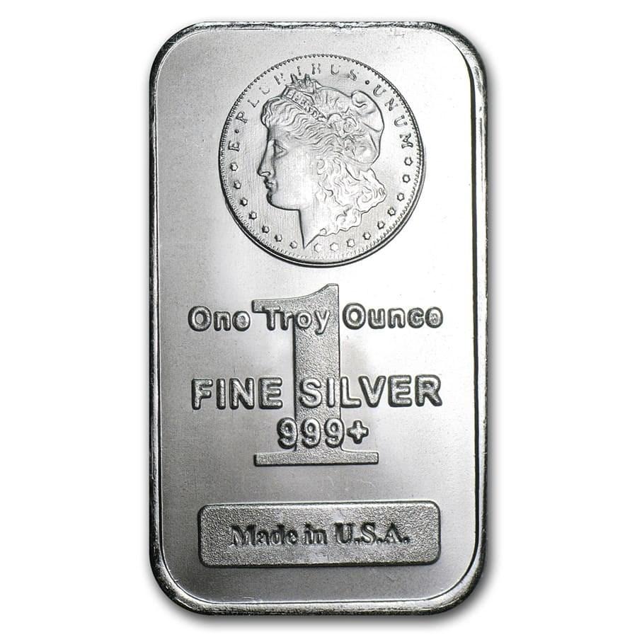 1 Oz Silver Bar Morgan Design New 1 Oz Silver Bars