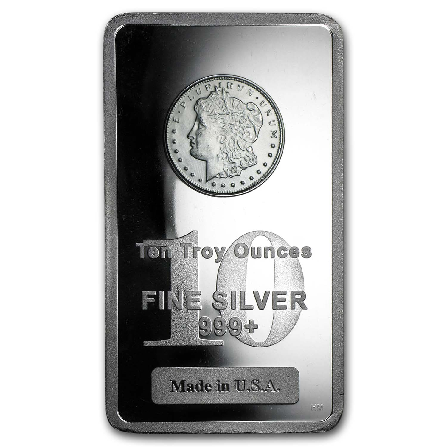 10 oz Silver Bar - Morgan Design