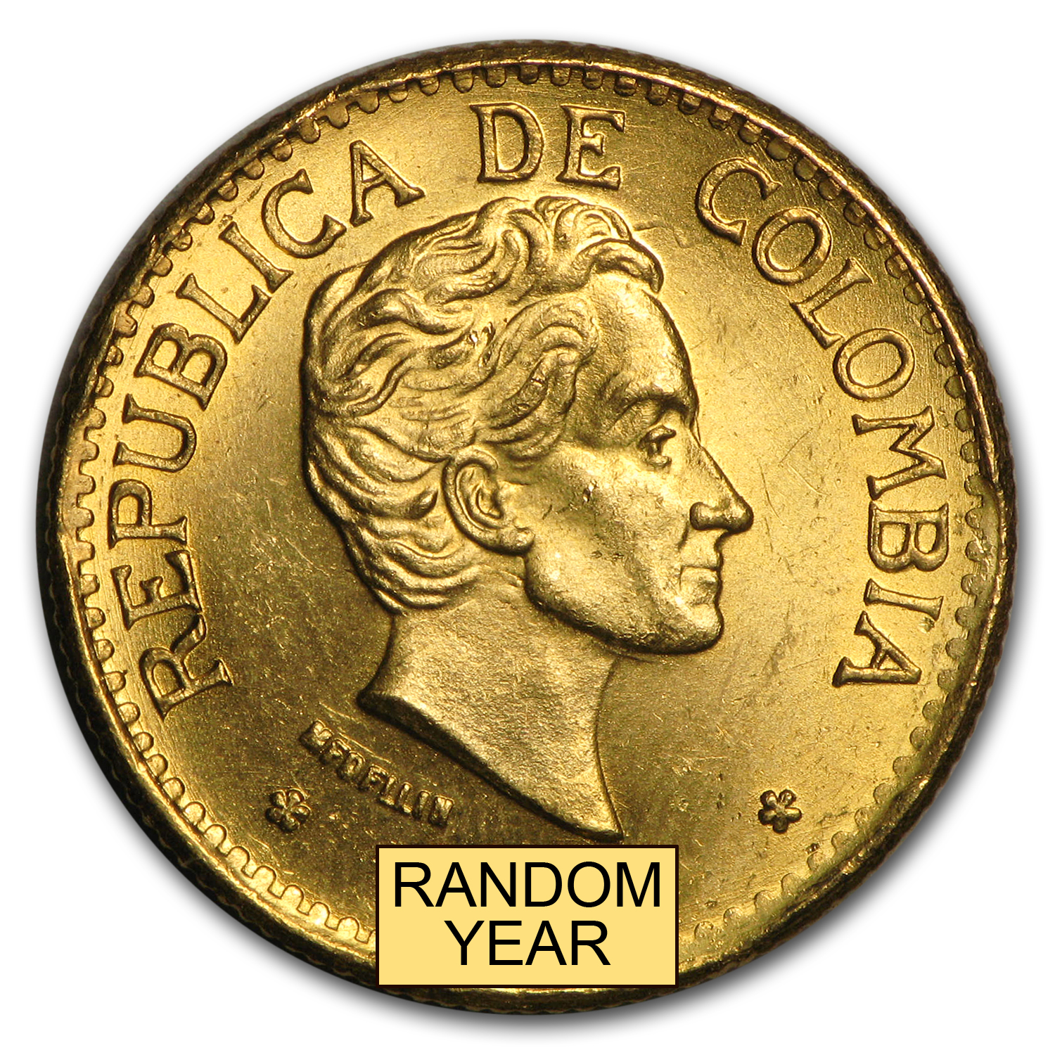 Colombia Gold 5 Pesos Average Circ (Random)