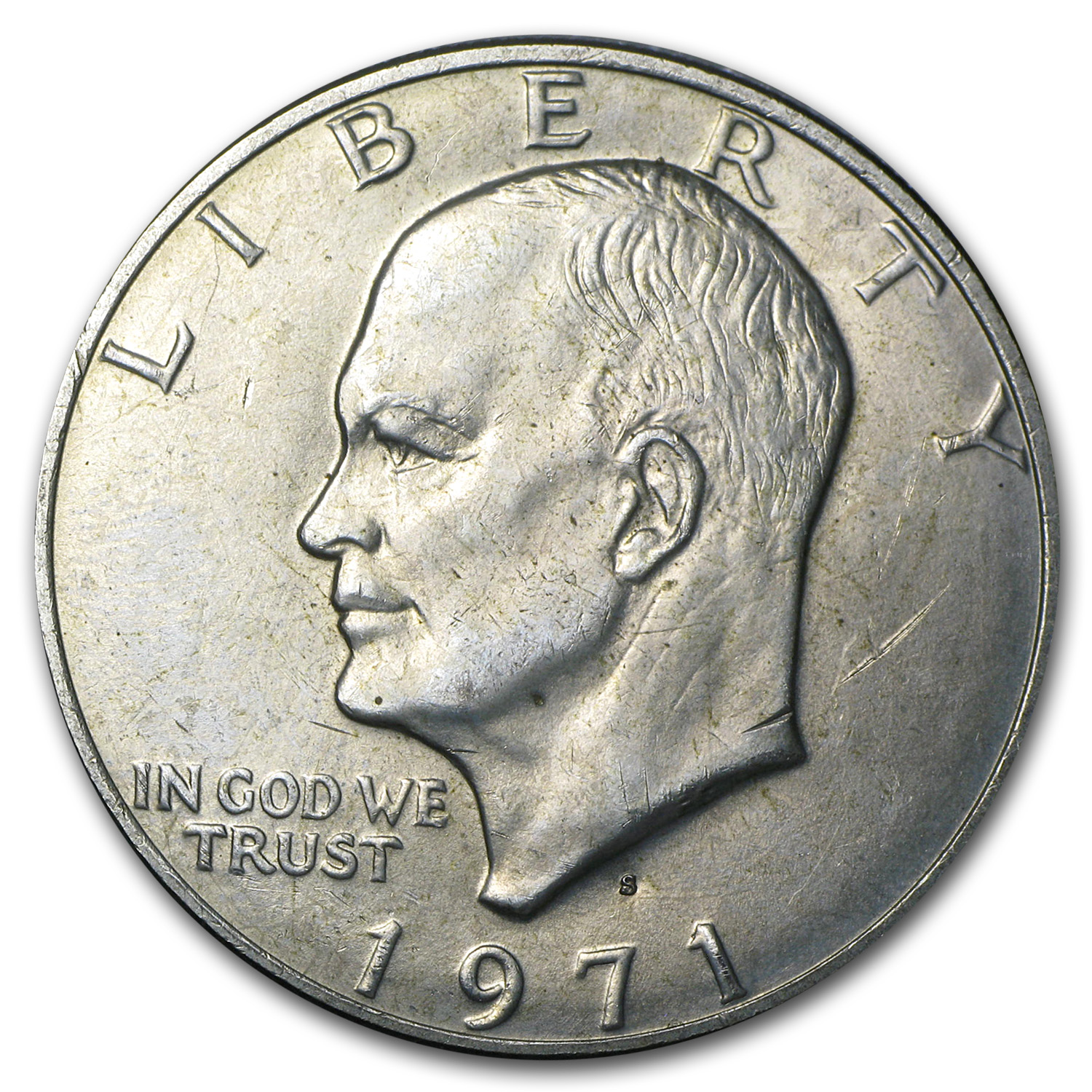 1971-S Eisenhower Dollar 40% Silver BU MS-60 - MS-65