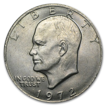 1972 Clad Eisenhower Dollar Bu Eisenhower Dollars 1971