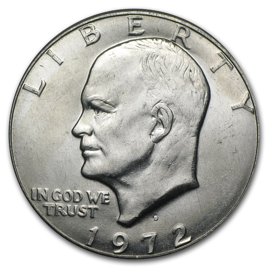 1972 D Clad Eisenhower Dollar Bu Eisenhower Dollars