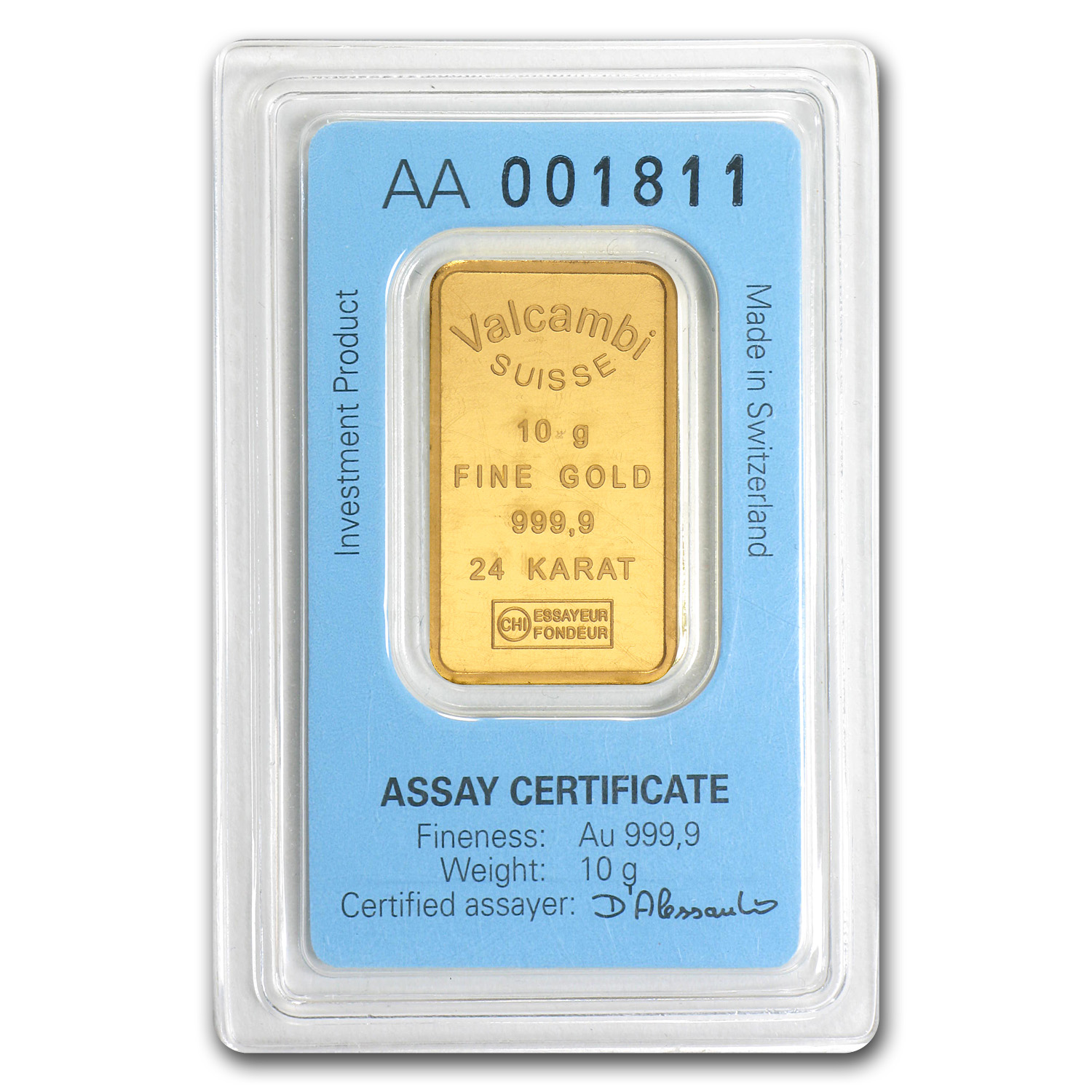 10 gram Gold Bar - Mint Varies (With Assay)