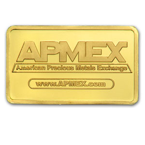 1 gram Gold Bar - APMEX