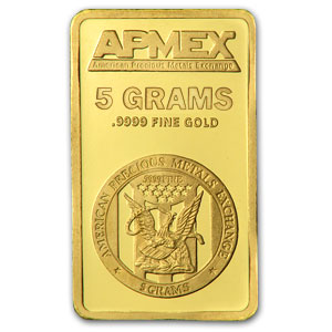 5 gram Gold Bar - APMEX