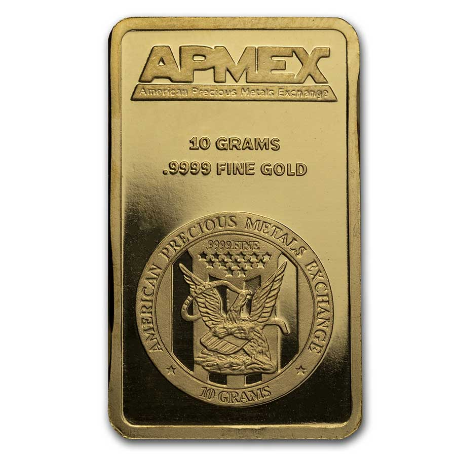 10 gram APMEX Gold Bar .9999 Fine
