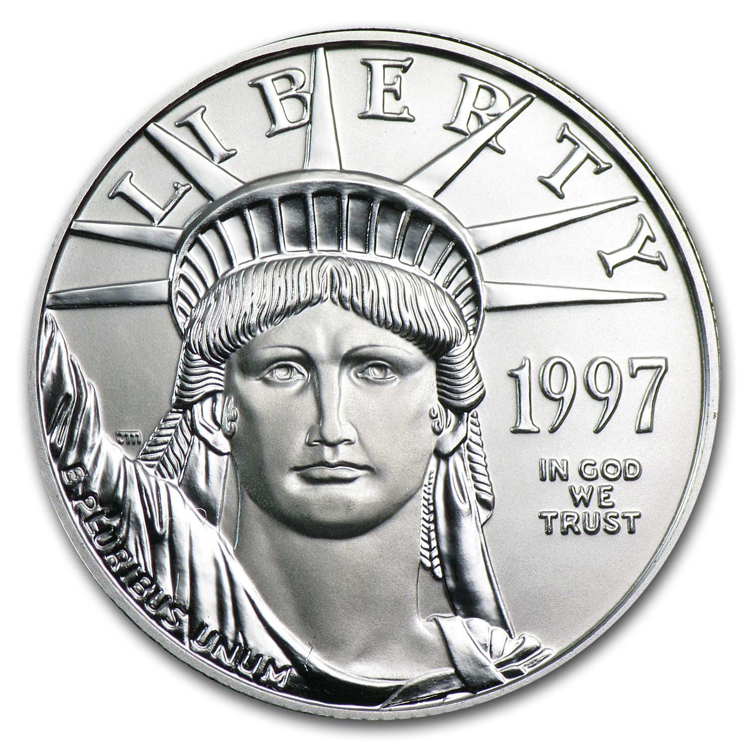 1997 1/2 oz Platinum American Eagle BU