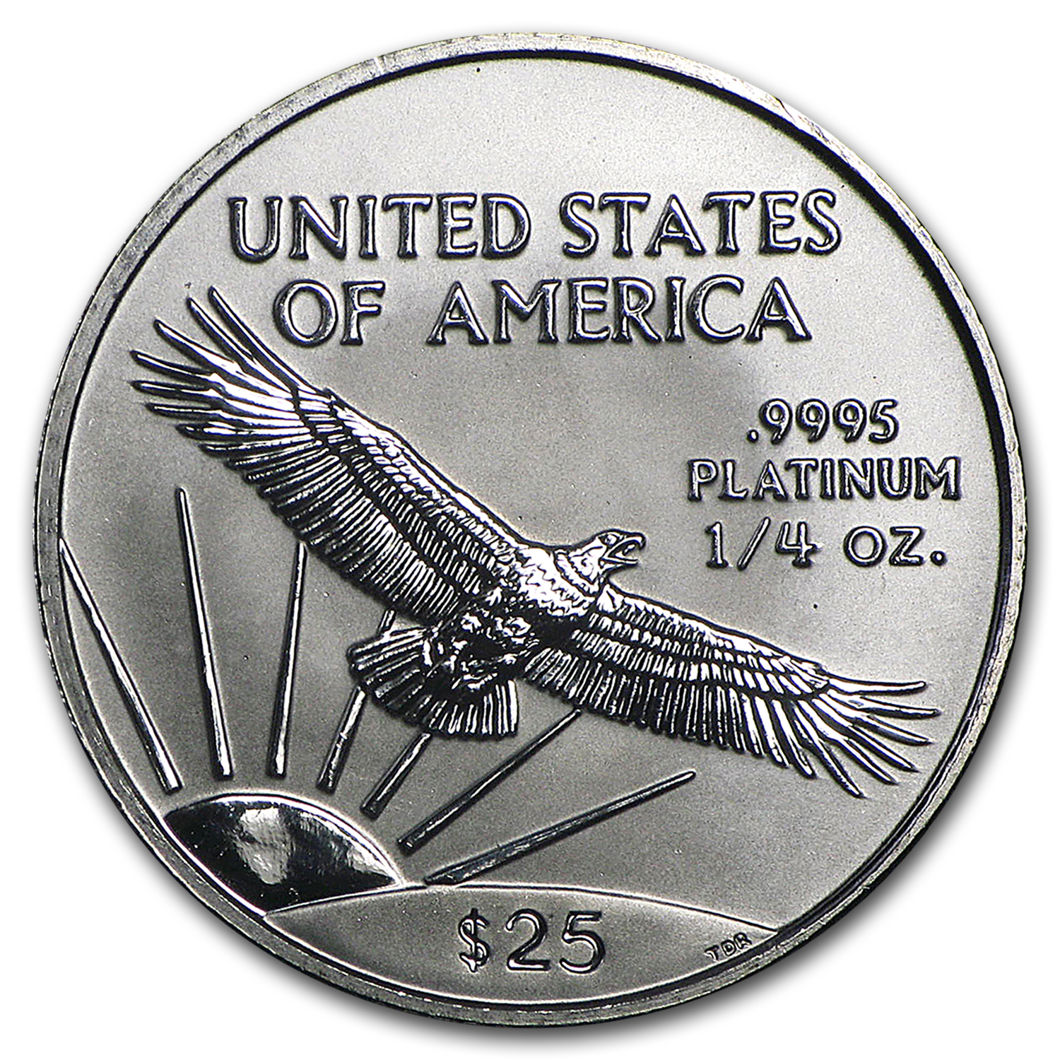 1997 1/4 oz Platinum American Eagle BU