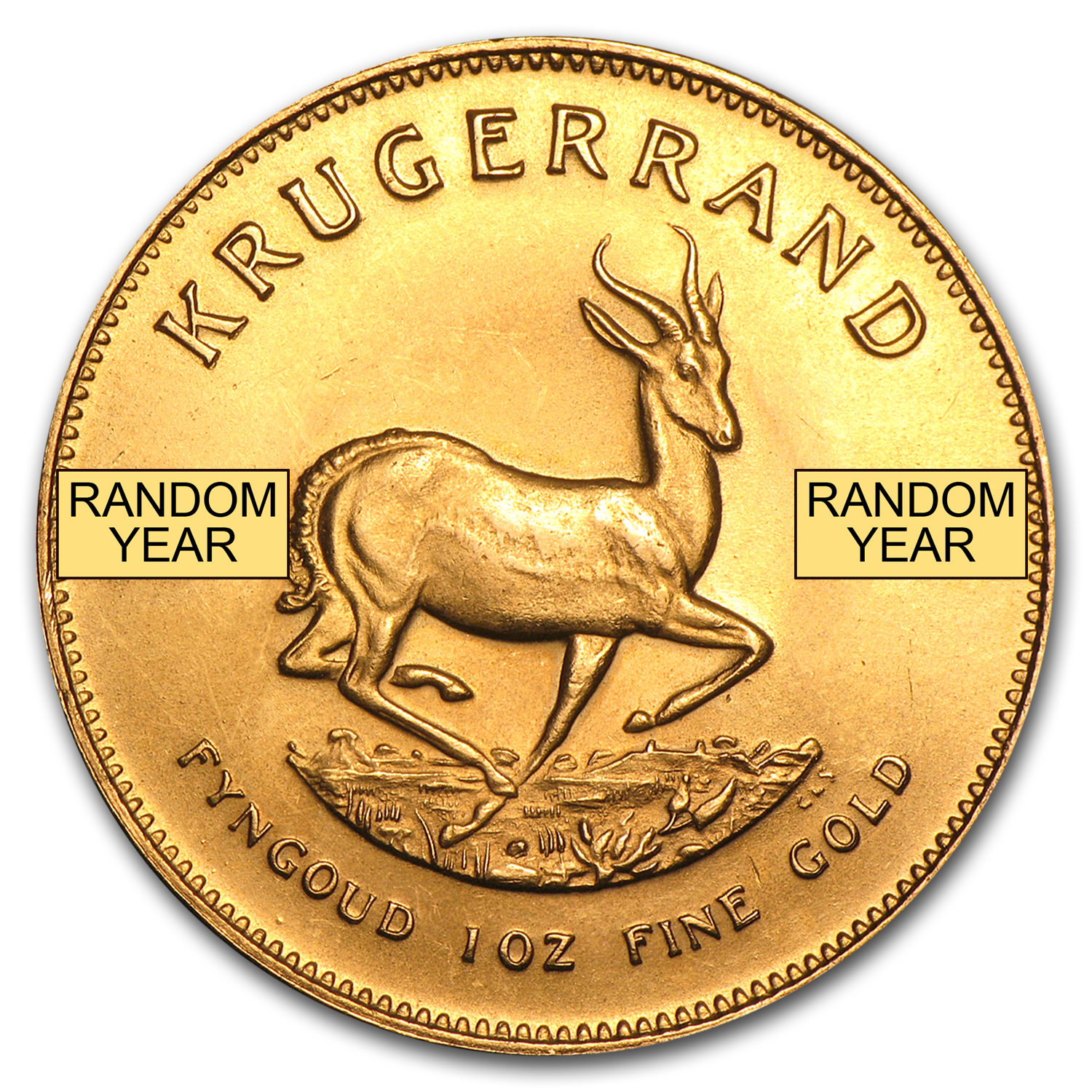 1 oz Gold South African Krugerrand (Abrasions)