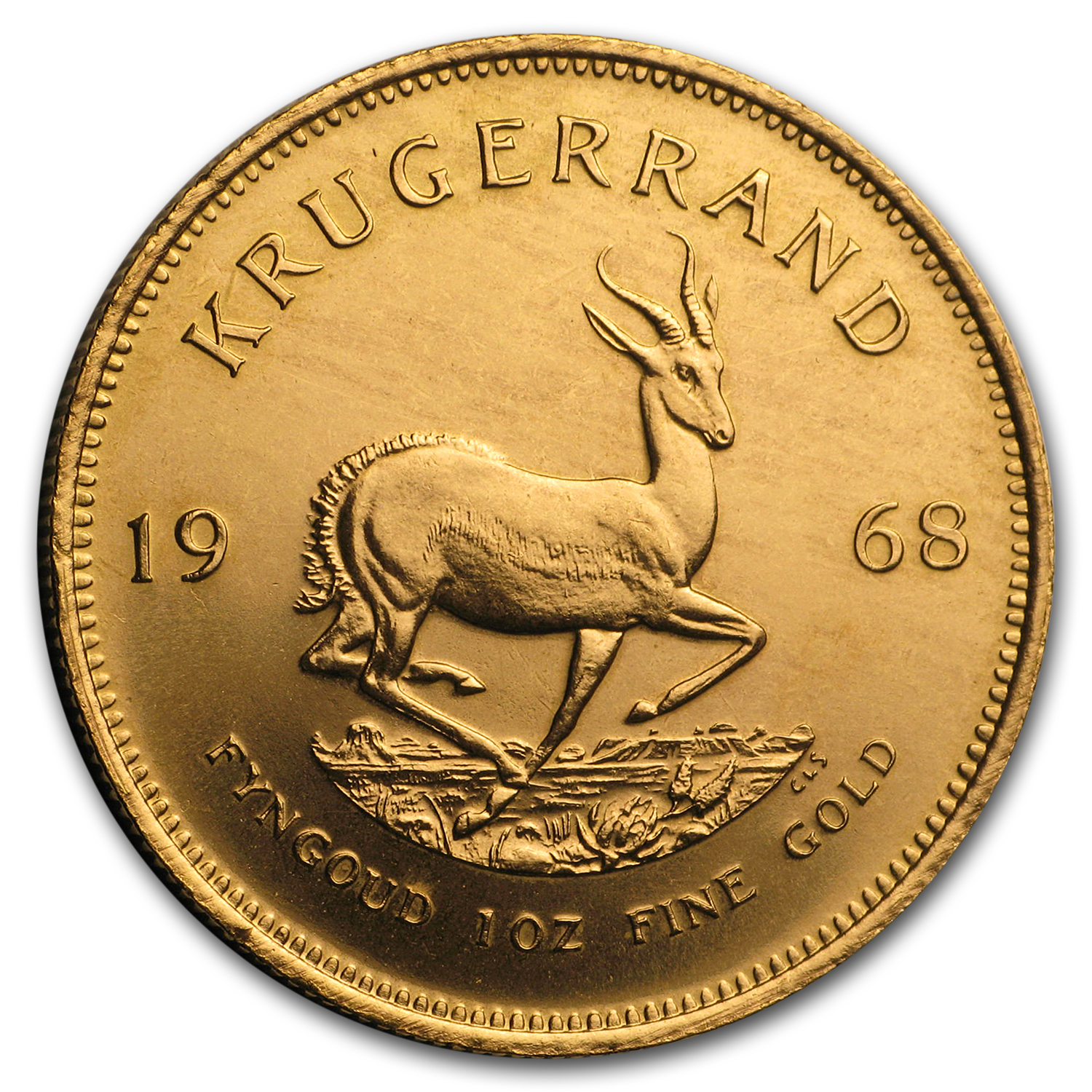 1968 South Africa 1 oz Gold Krugerrand