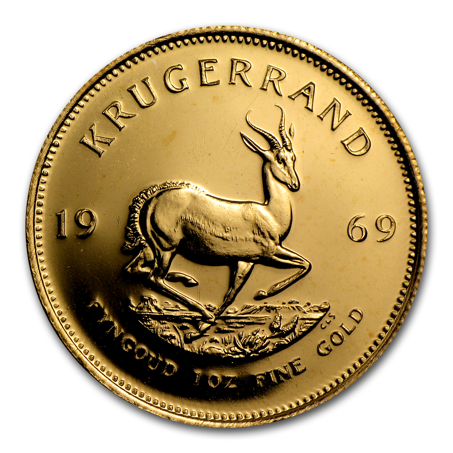 1969 South Africa 1 oz Gold Krugerrand BU