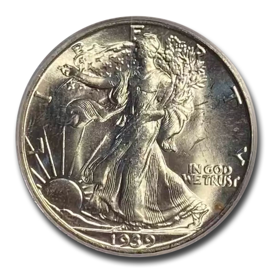 1939-S Walking Liberty Half Dollar MS-64 PCGS