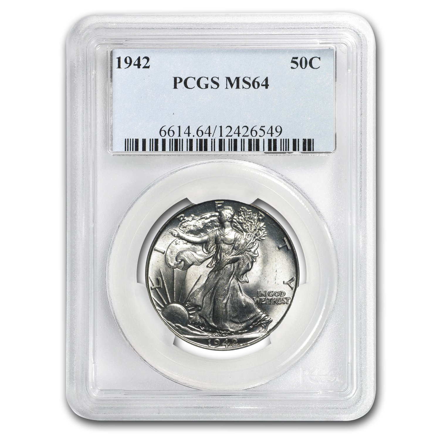 1942 Walking Liberty Half Dollar MS-64 PCGS