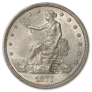 1877-S Trade Dollar AU-58 (Chopmark)