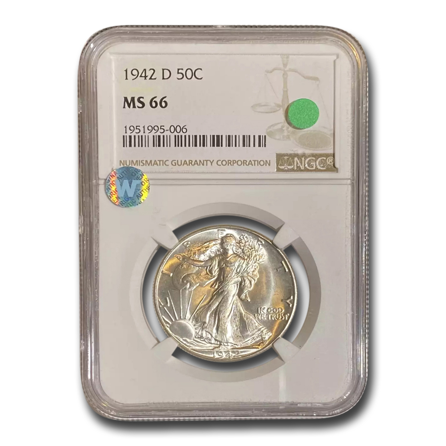 1942-D Walking Liberty Half Dollar MS-66 NGC