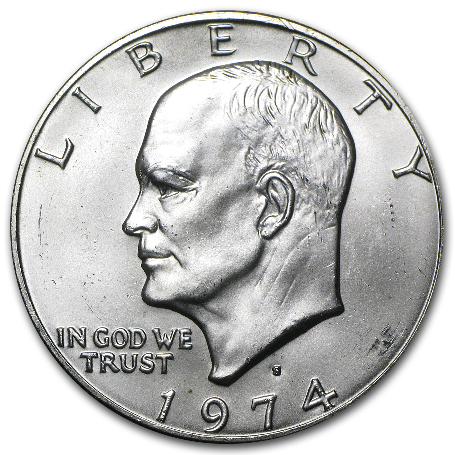 1974-S Eisenhower Dollar 40% Silver BU MS-60 - MS-65