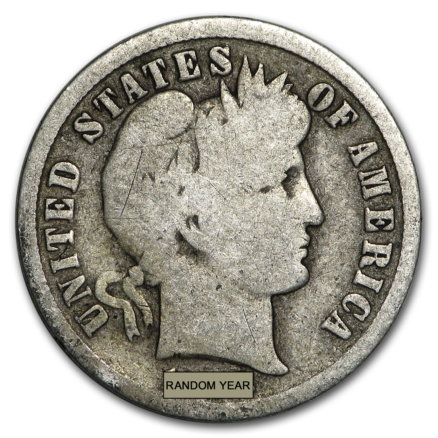 90% Silver Barber Dimes $100 Face-Value Bag