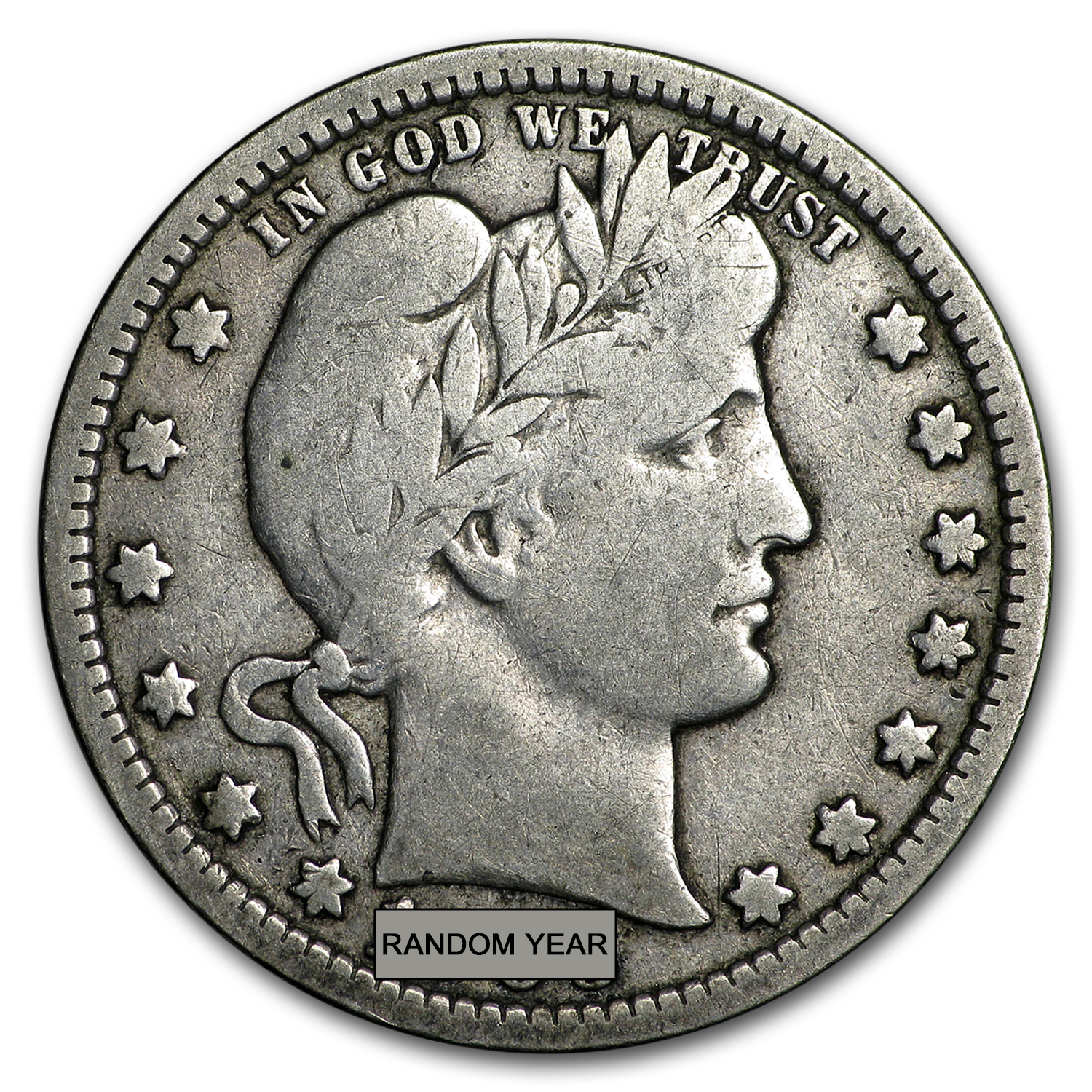 90% Silver Barber Quarters $100 Face-Value Bag