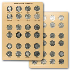 1941-1998 P,D,S Washington Quarters Set BU & Proof (In Dansco)
