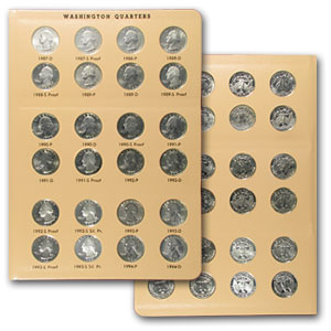 Washington Quarters Set BU & Proof 1941-1998 PDS (In Dansco)