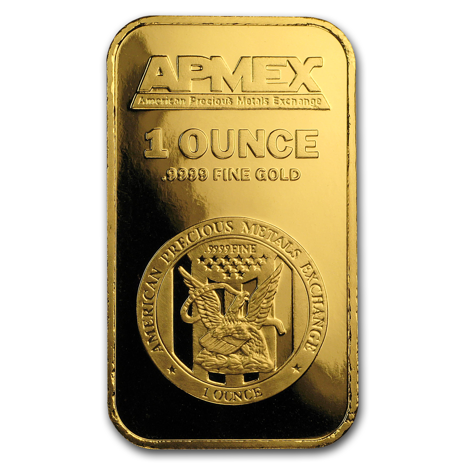 1 oz APMEX Gold Bar .9999 Fine
