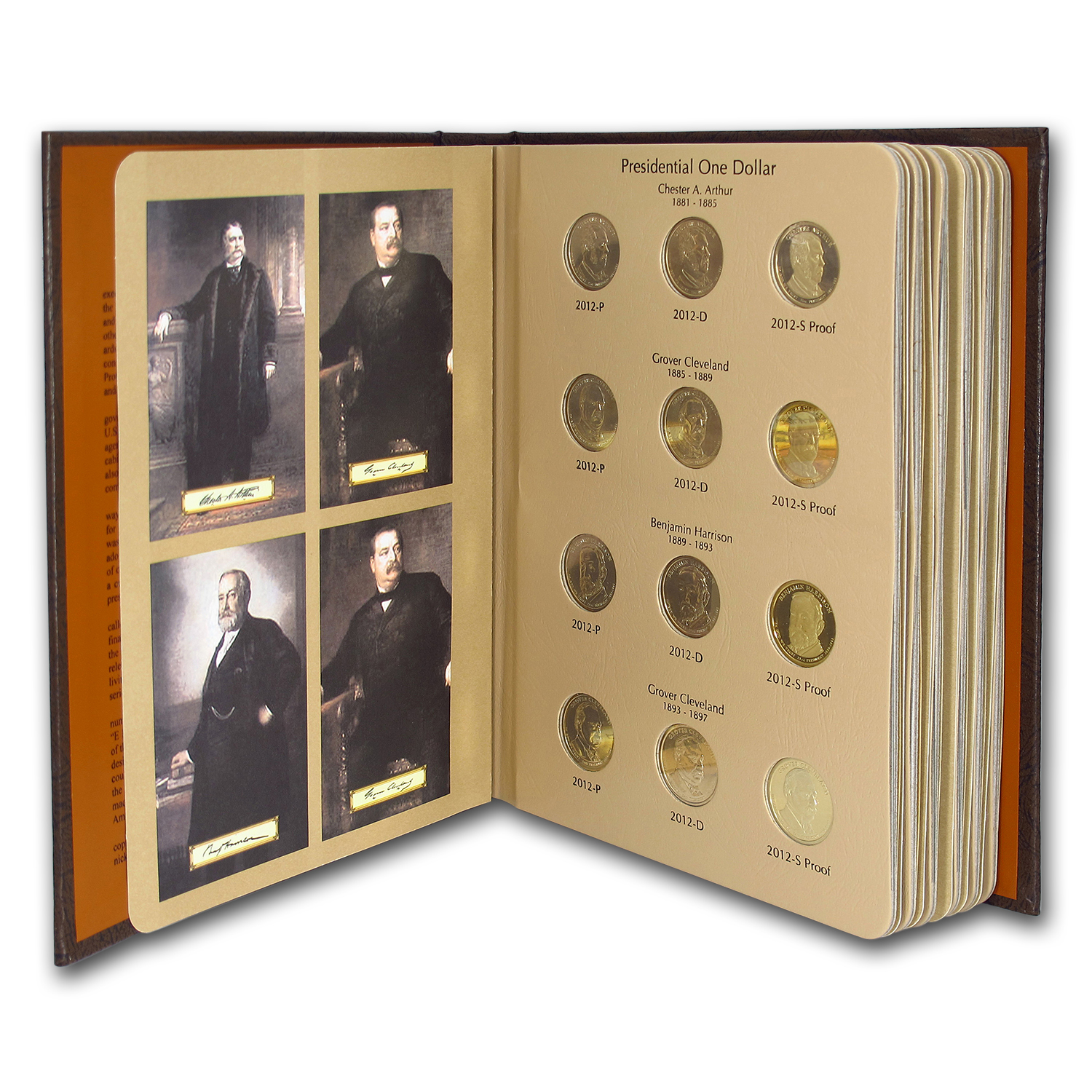 2007-2011 P, D & S 60-Coin Presidential Proof Set (Dansco Album)