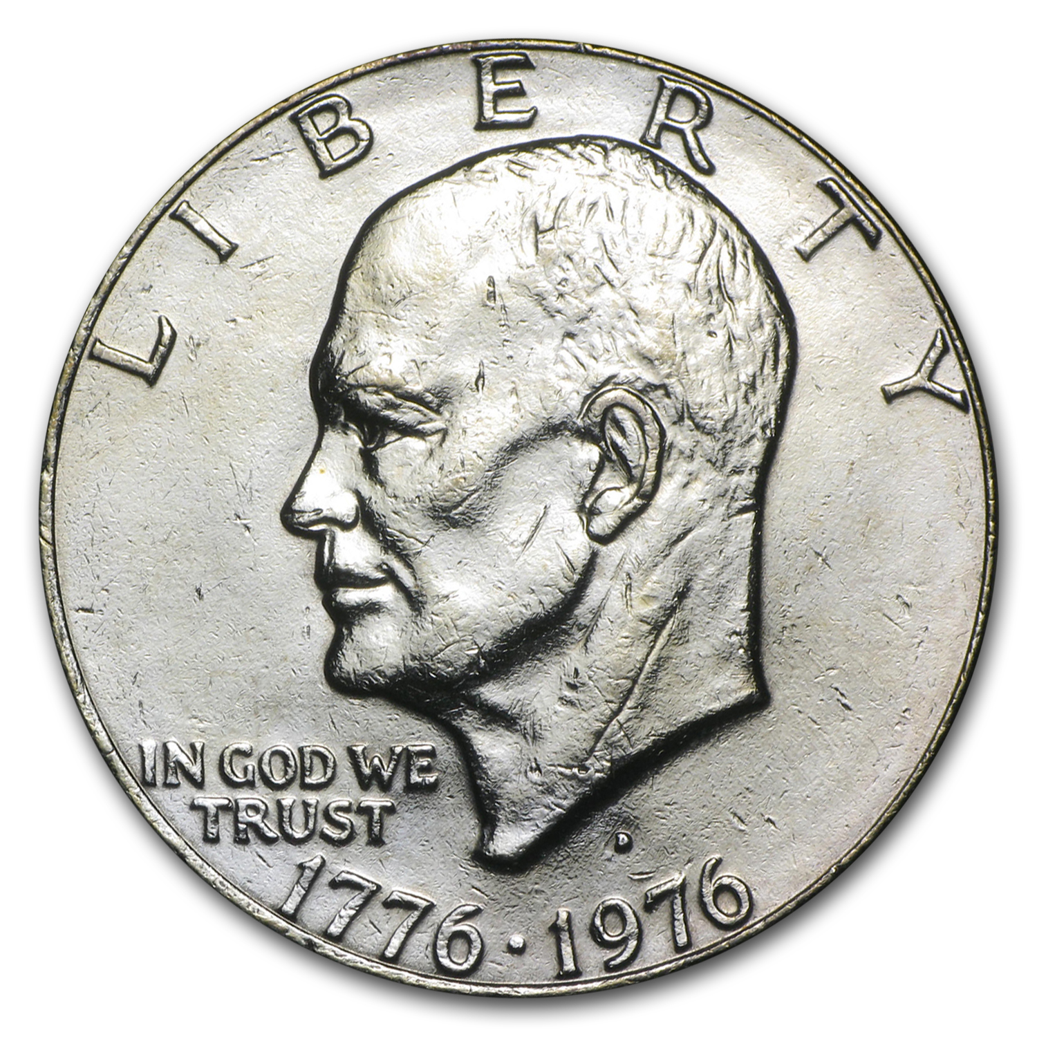 1976-D Clad Eisenhower Dollar BU (Type-2)
