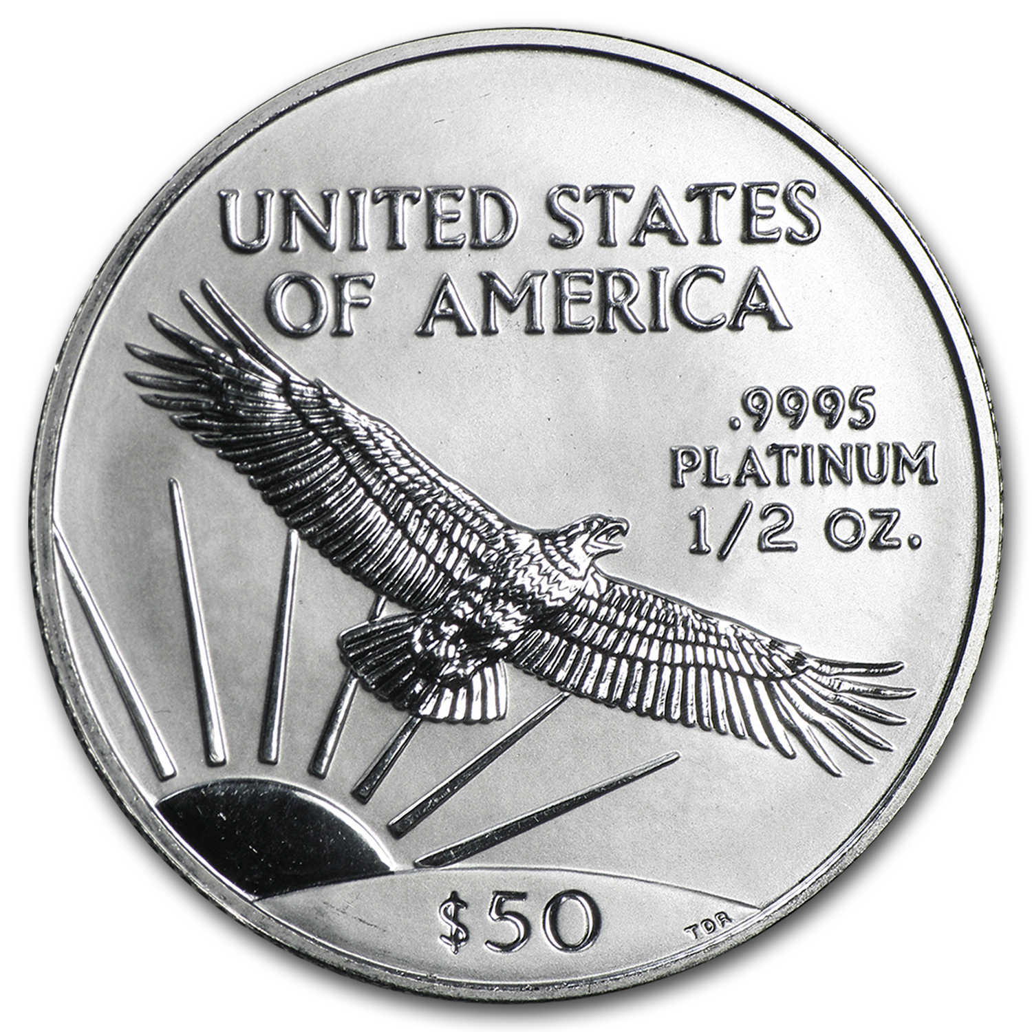 1998 1/2 oz Platinum American Eagle BU