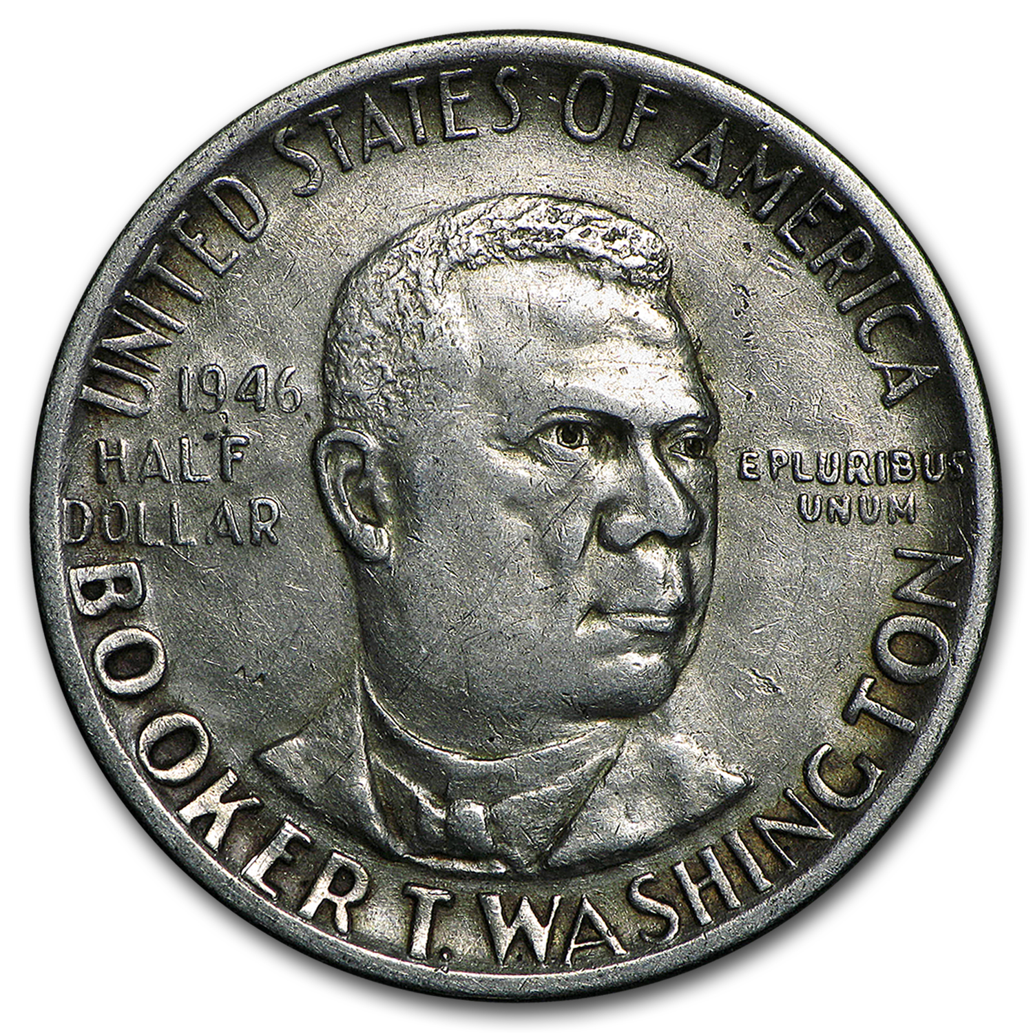 1946-51 P, D or S Booker T. Washington Half Avg Circ