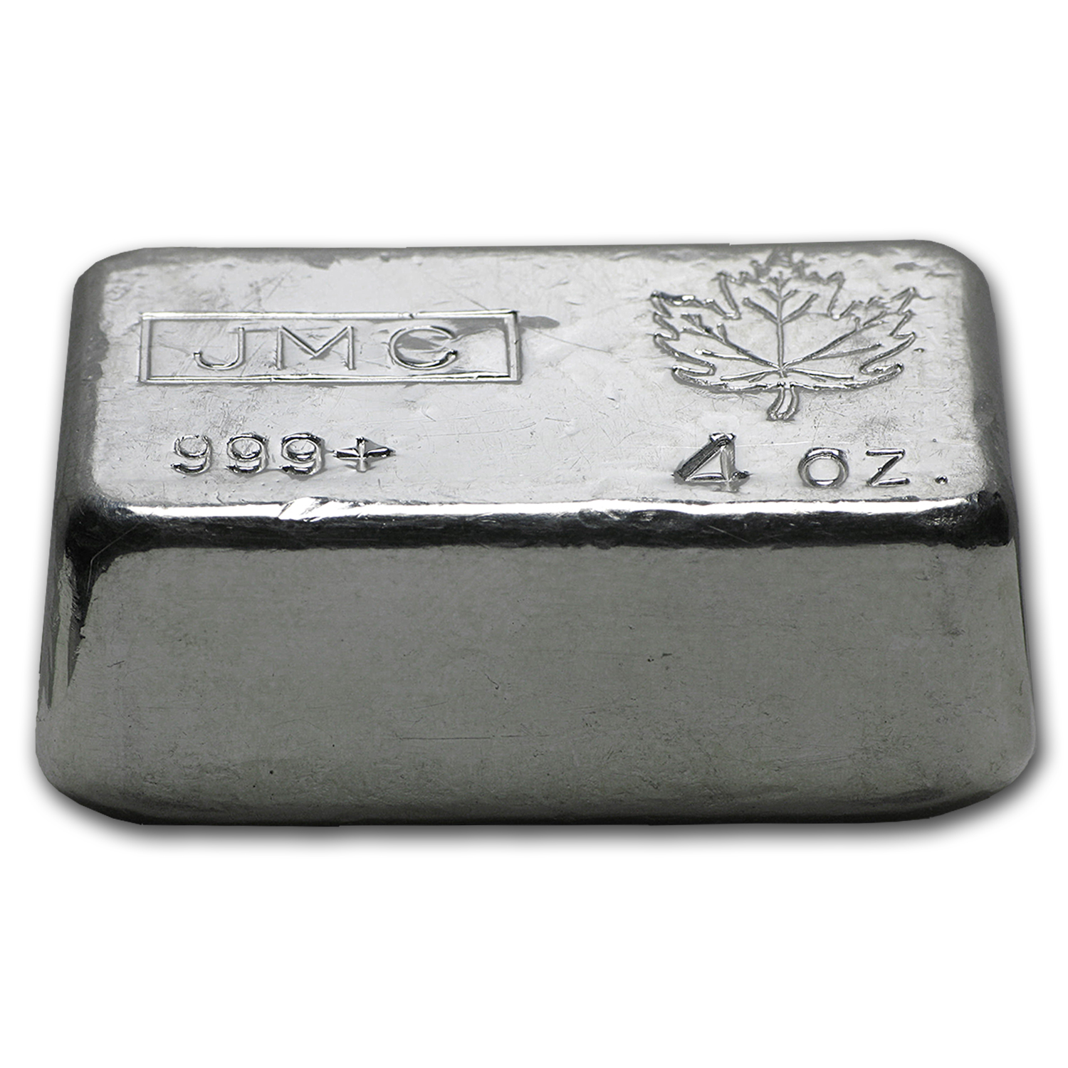 4 oz Silver Bars - Johnson Matthey (Poured/Canada)