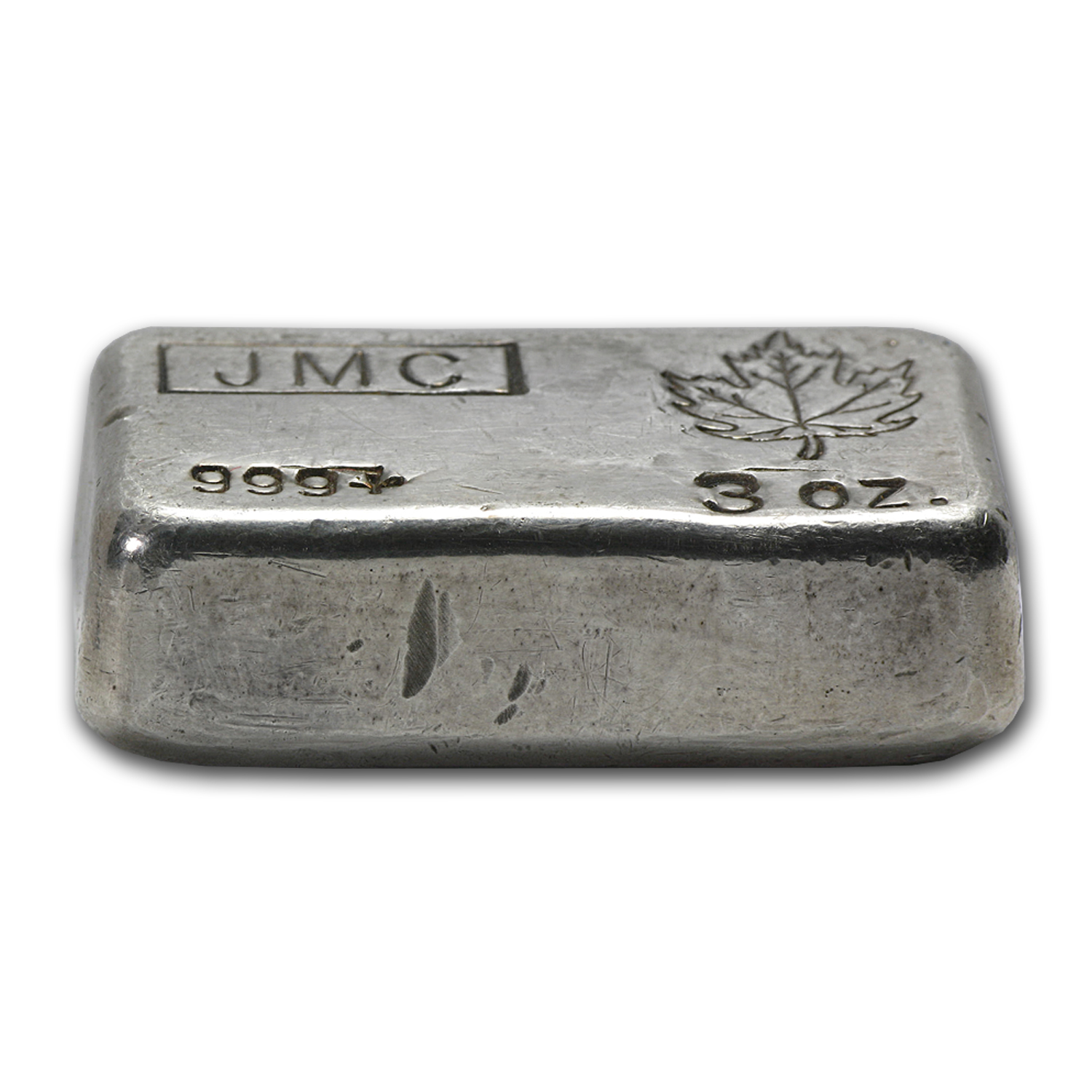 3 oz Silver Bars - Johnson Matthey (Poured/Canada)