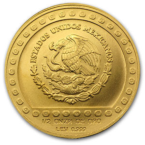 1992 Mexico 500 Pesos Gold Jaguar Brilliant Uncirculated