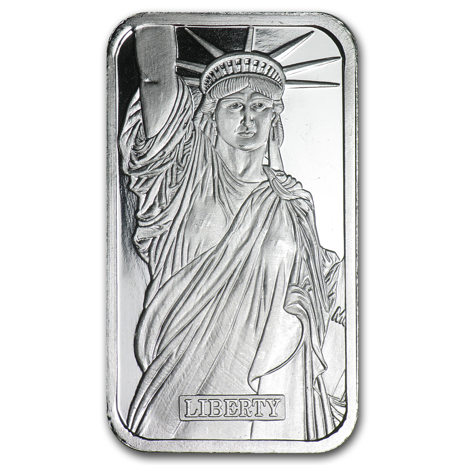 1 oz Silver Bar - Johnson Matthey (Statue of Liberty, MTB, MA)