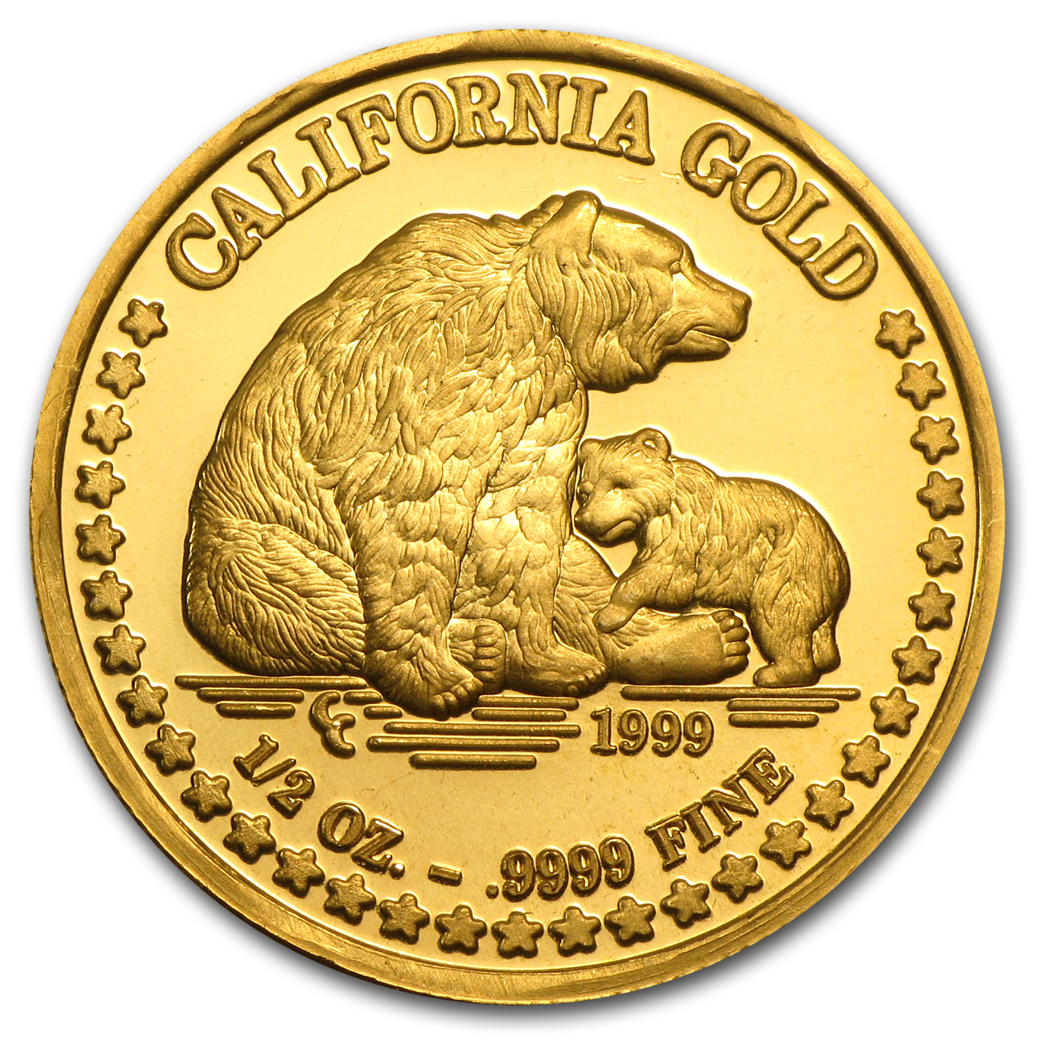 1/2 oz Gold Round - Great Seal of California