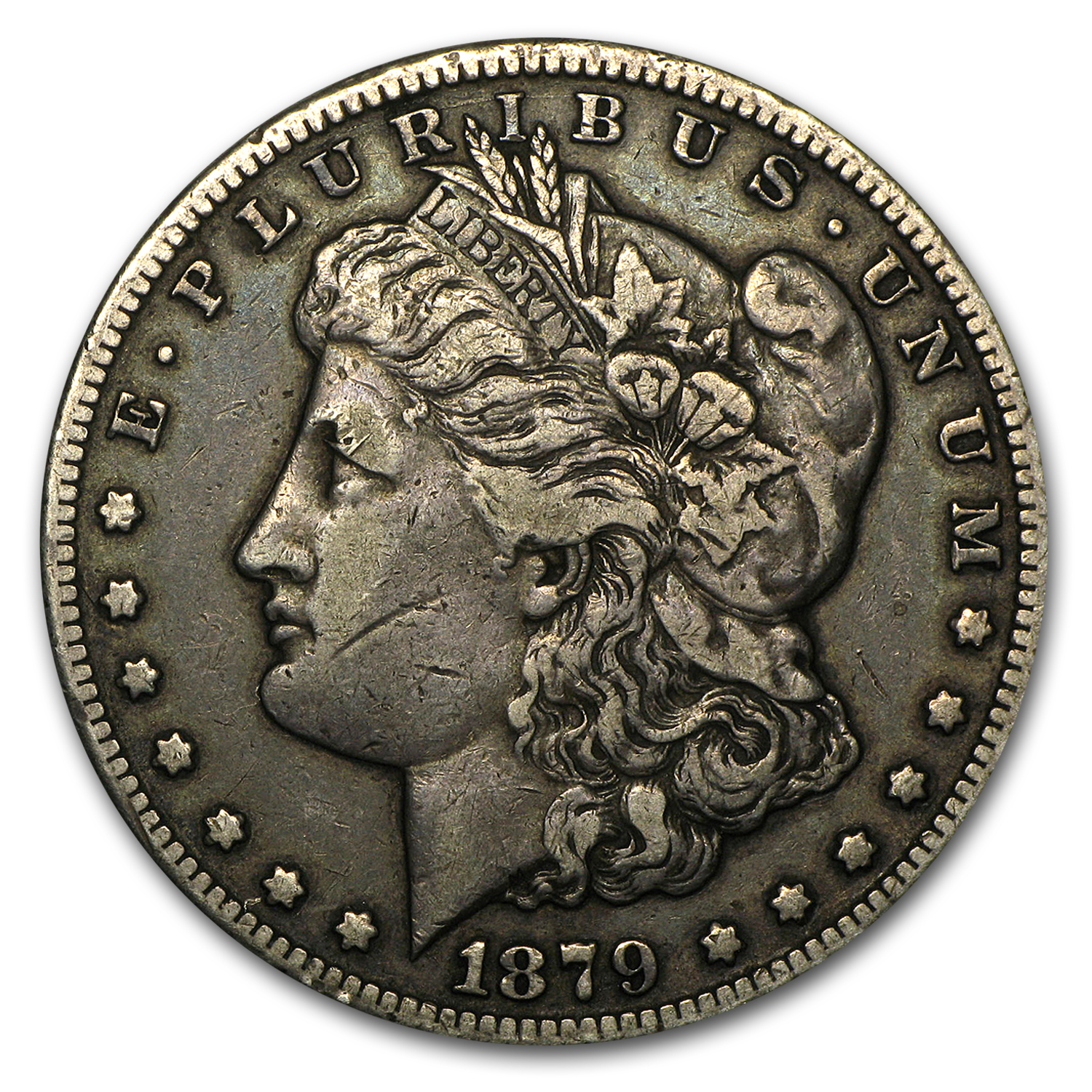 1879-CC Morgan Dollar Capped CC VF