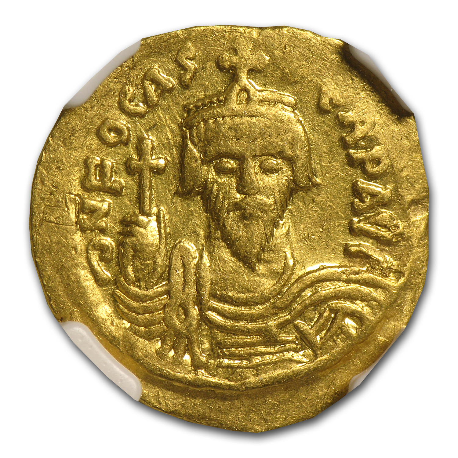 Byzantine Gold Emperor Phocas VF NGC (602-610 AD)