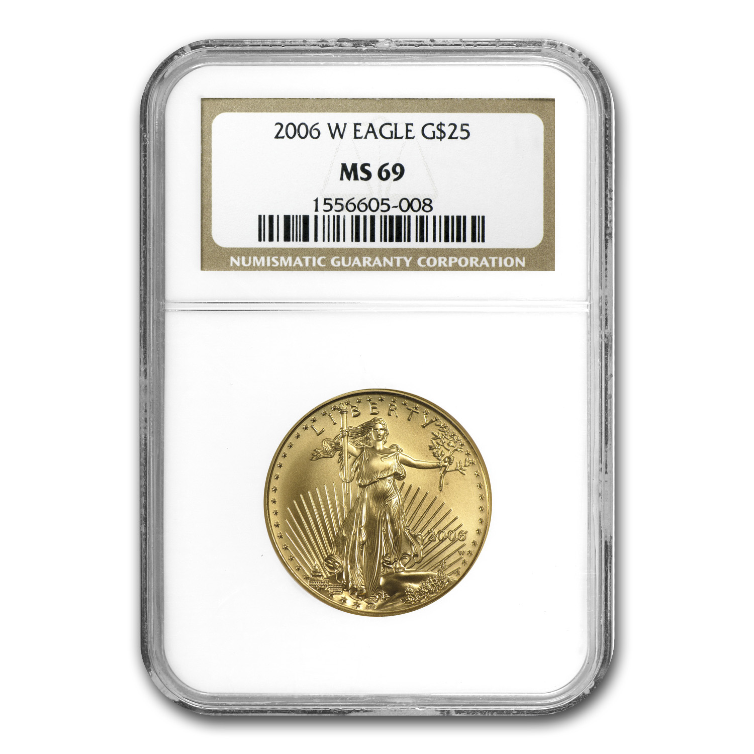 2006-W 1/2 oz Burnished Gold American Eagle MS-69 NGC