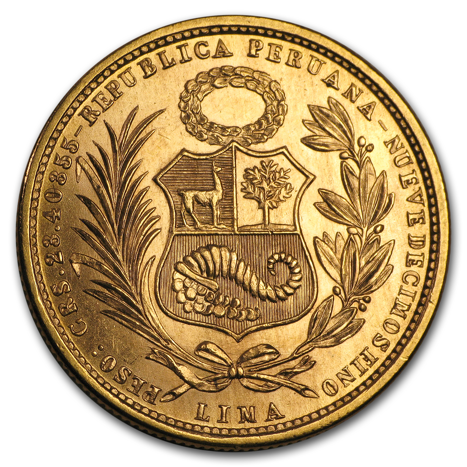 Peru Gold 50 Soles AU or Better (AGW 0.6772, Random)