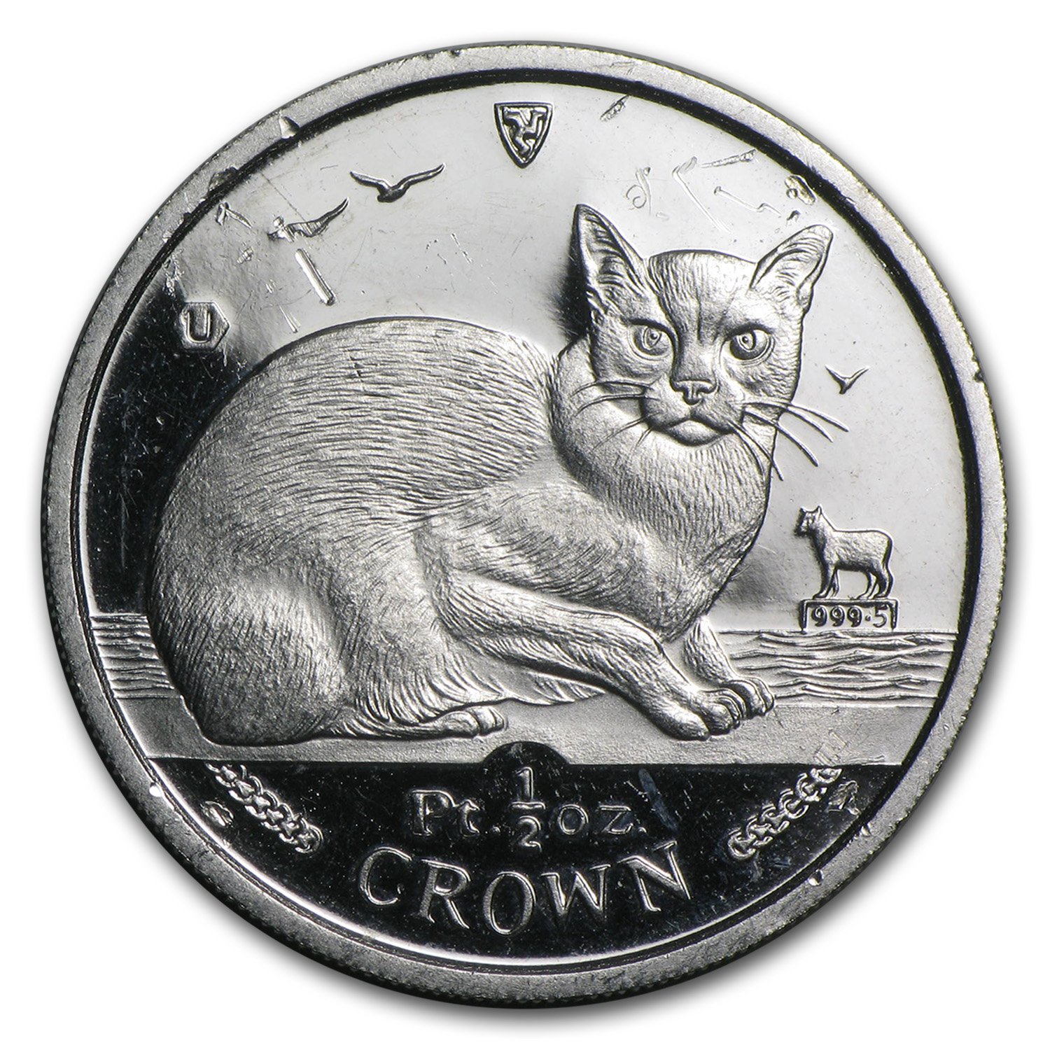Isle of Man 1/2 oz Platinum Persian Cat