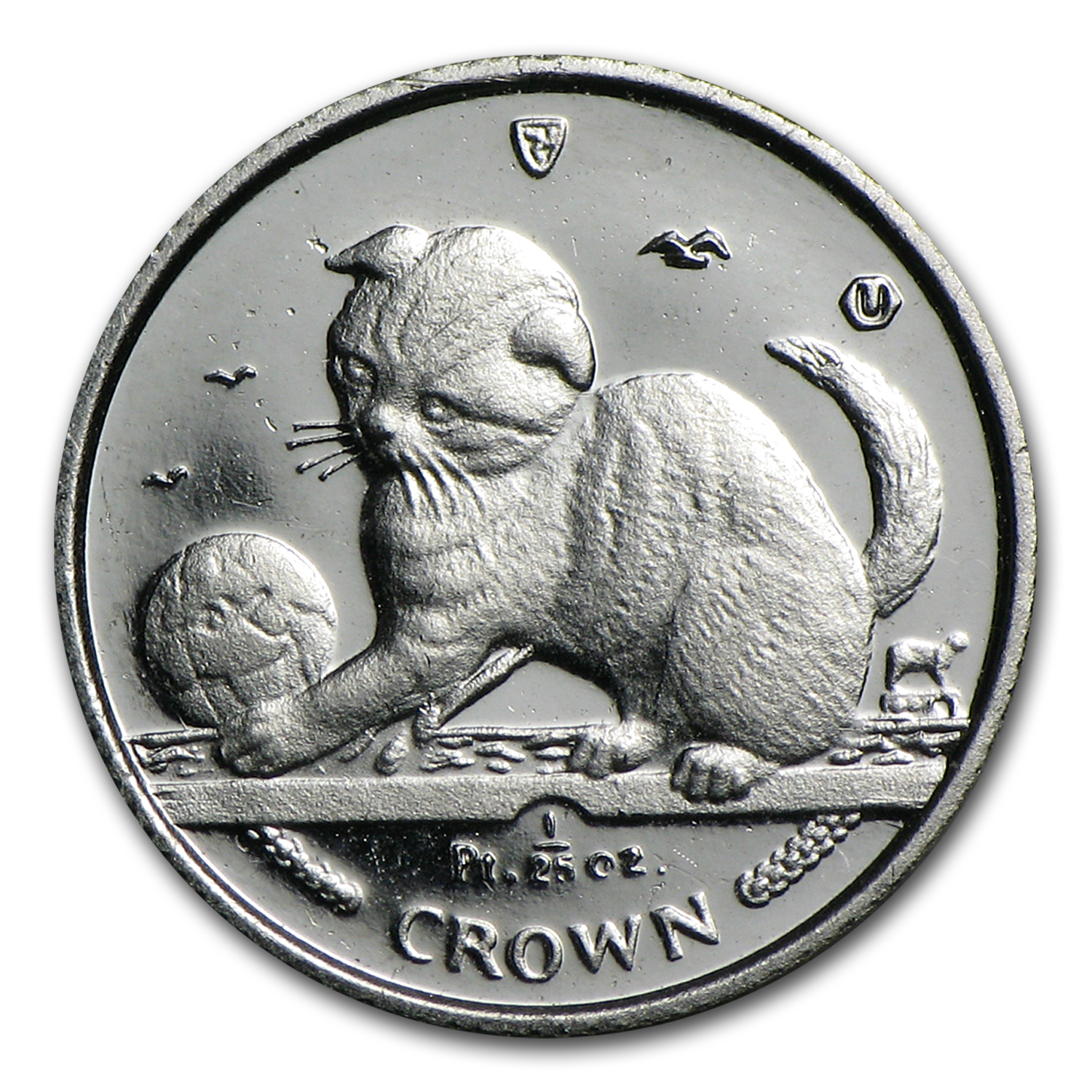 Isle of Man 1/25 oz Platinum Persian Cat (Scruffy)