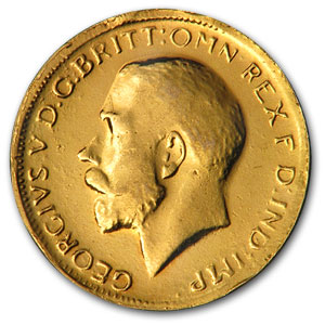 1911-1931 Great Britain Gold Sovereign George V (Scruffy)