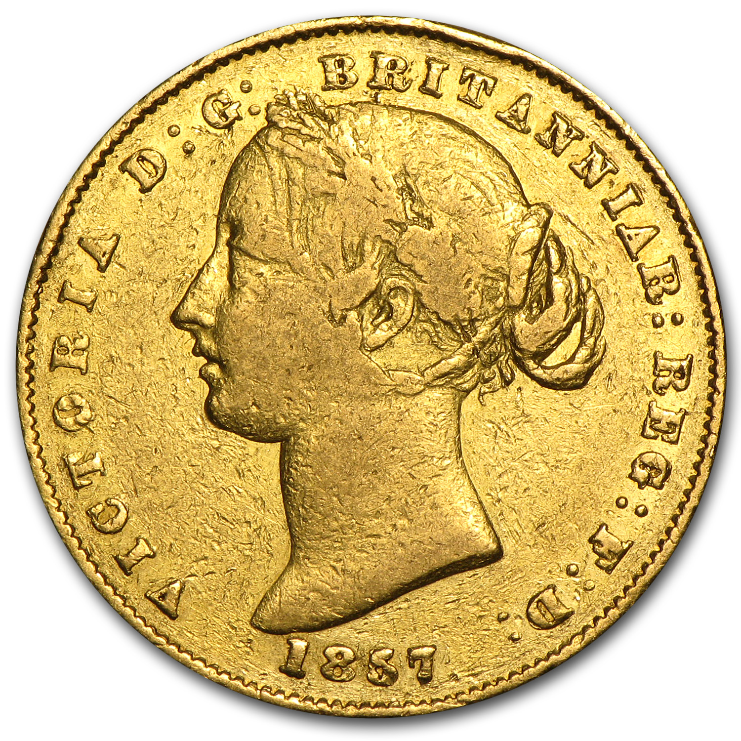 Australia Gold Sovereign Victoria (Off Quality)