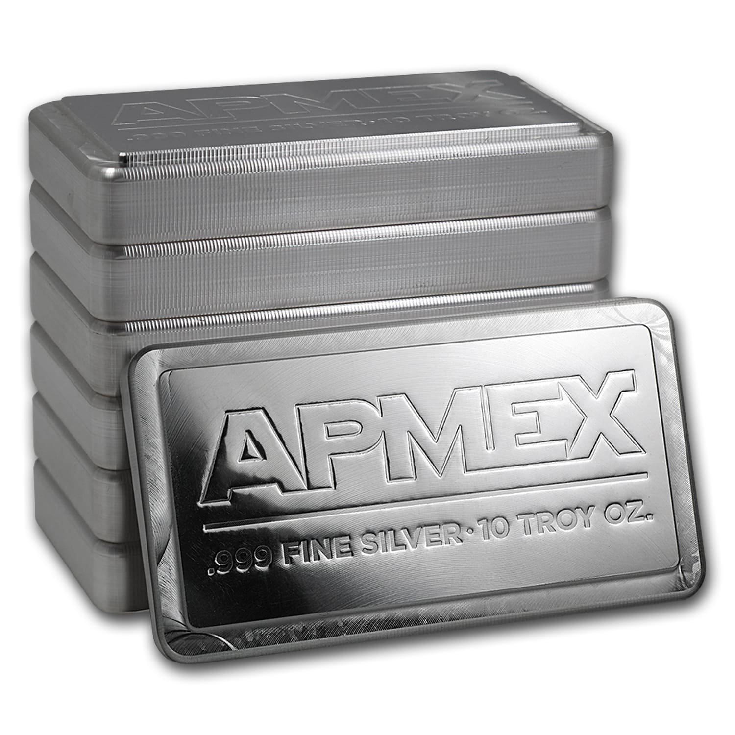 10 oz APMEX Silver Bar (Stackable, IRA approved)