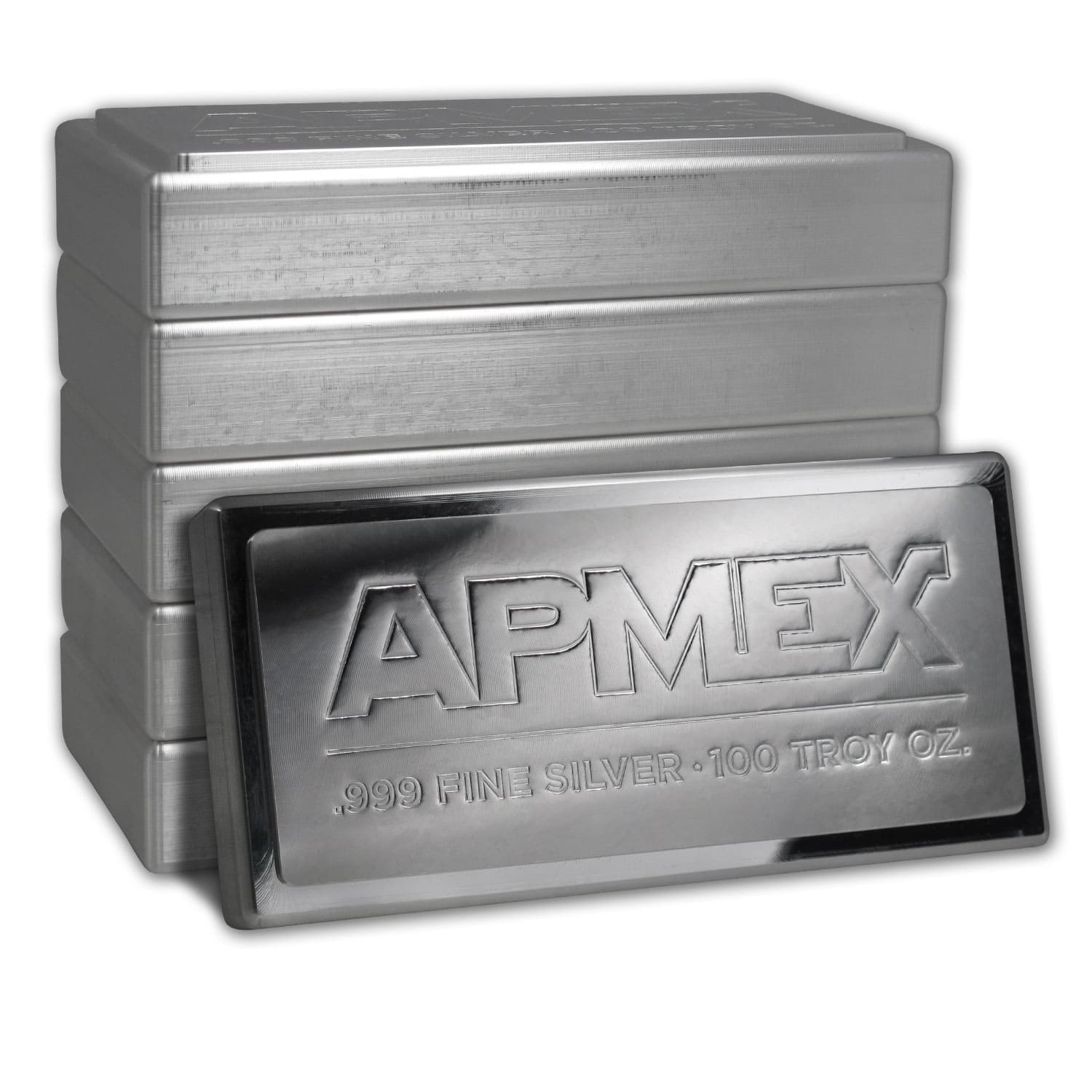 100 oz Silver Bar - APMEX (Stackable)