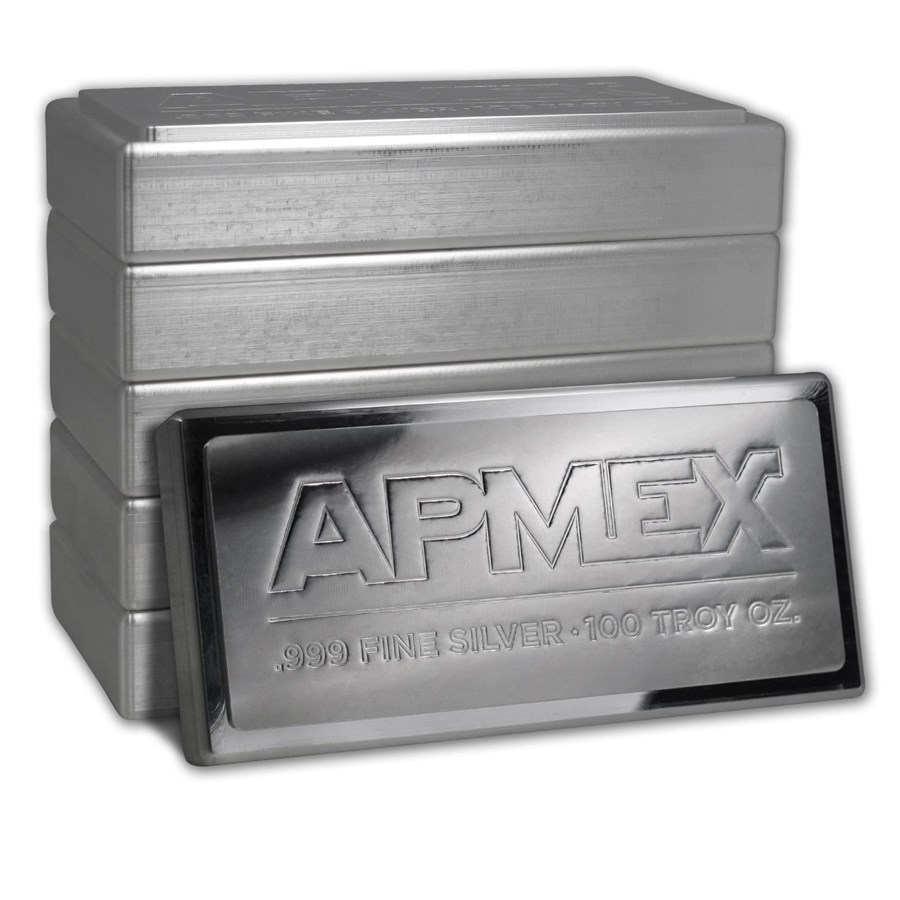 100 Oz Silver Bar For Sale 100 Ounce Stackable Silver