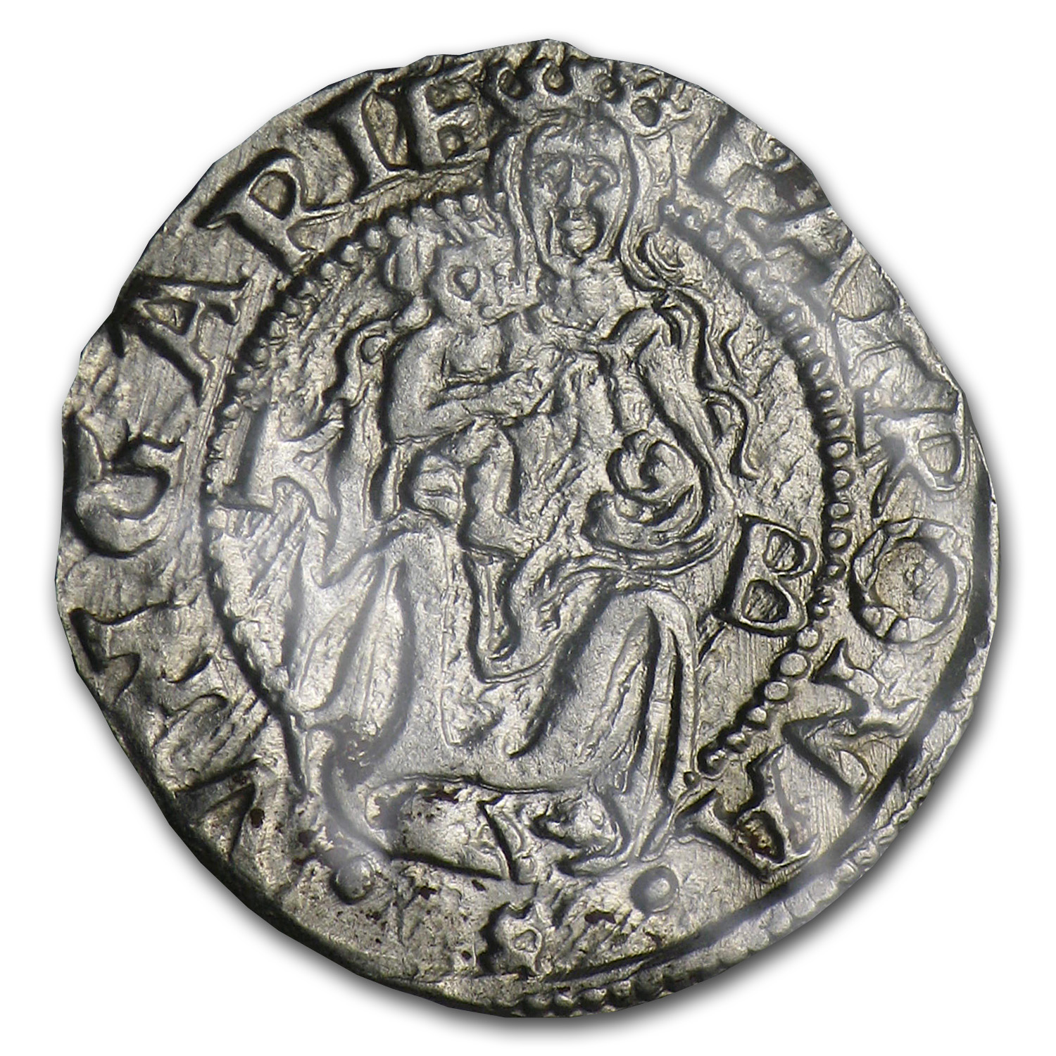 1400-1600 Hungary Silver Denar Madonna & Child (Deluxe Album)