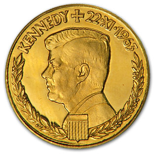 1963 Germany Gold 1 Ducat Kennedy Medal
