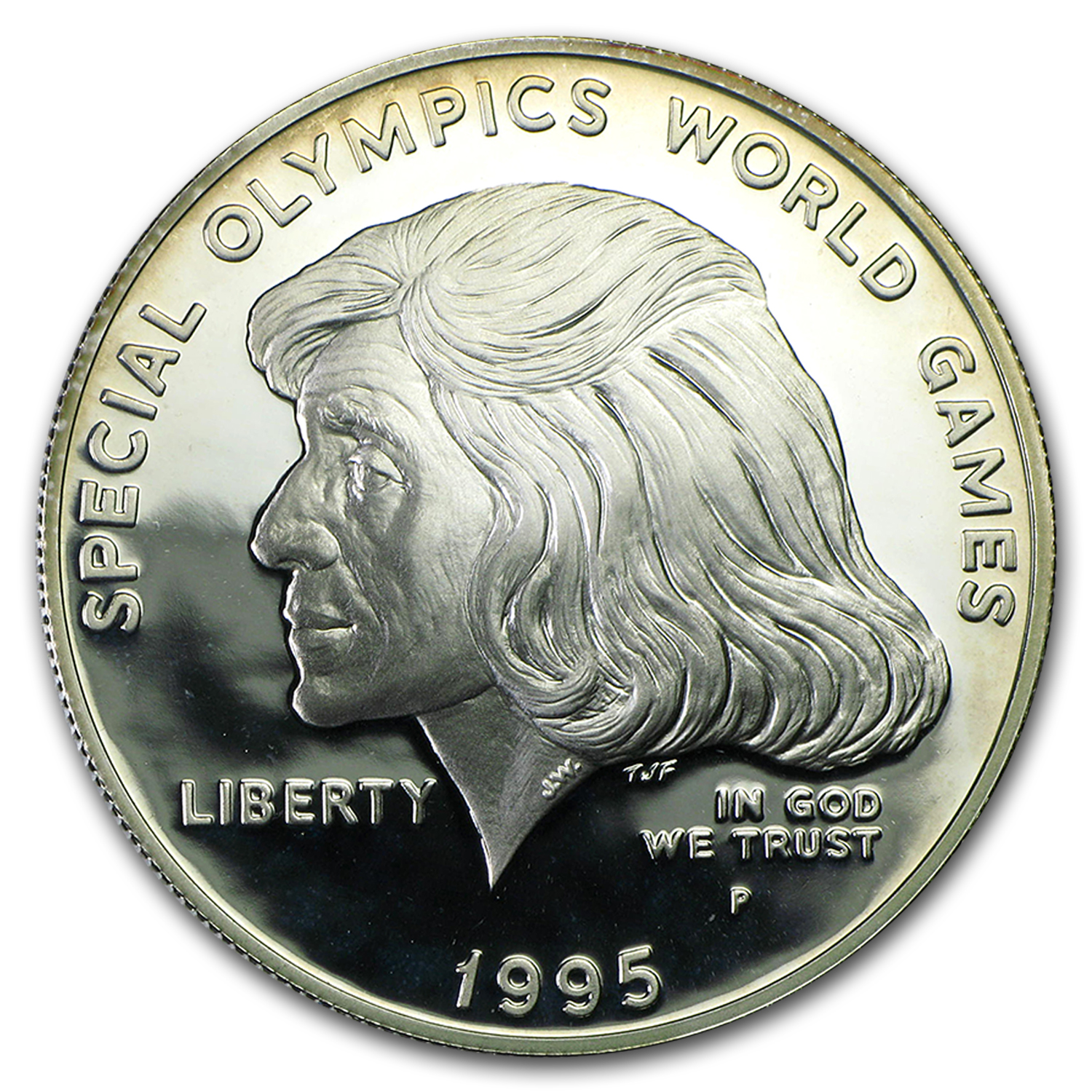 1995-P Special Olympics $1 Silver Commem Proof (Capsule Only)