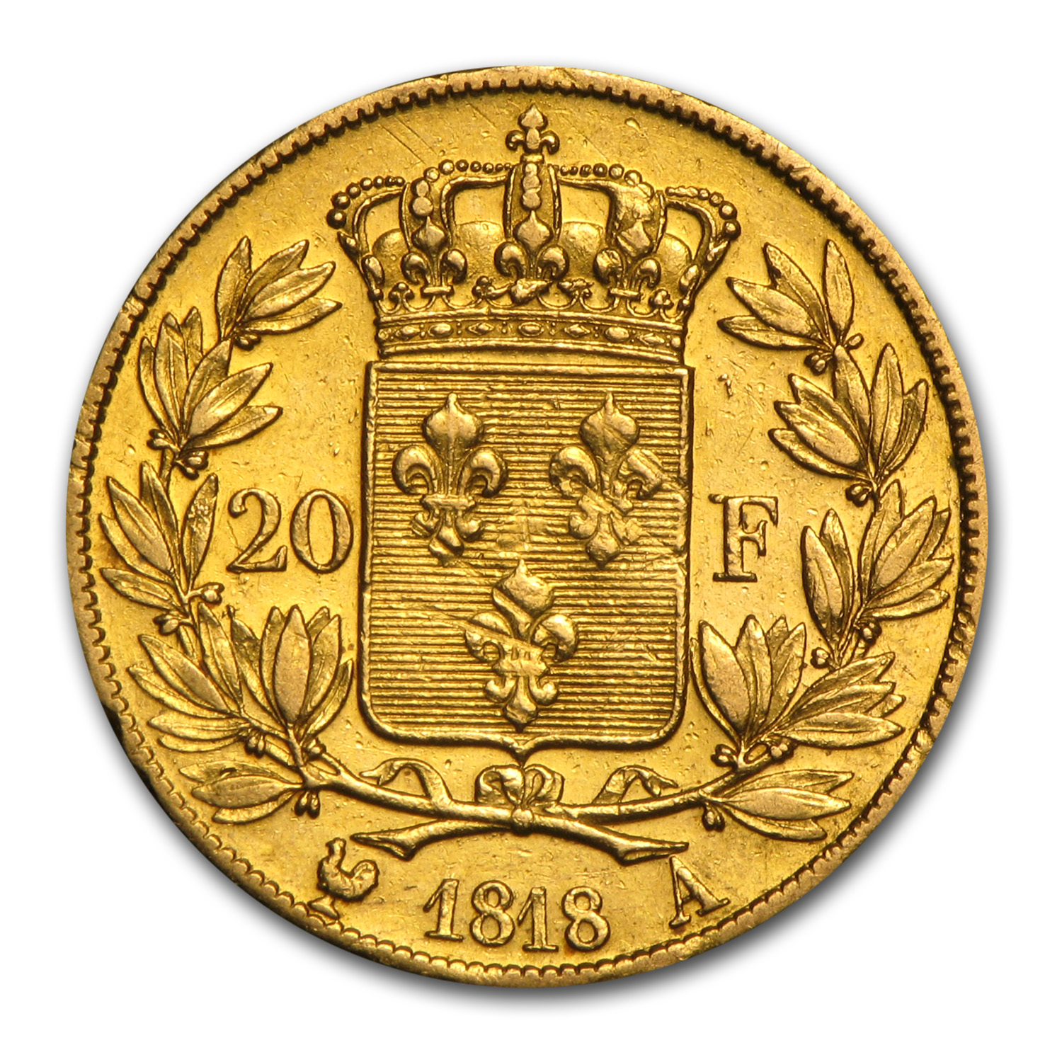 France Gold 20 Francs (1816-1824 Louis XVIII) (XF)