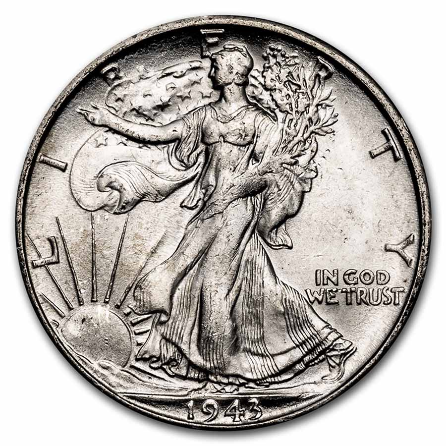 Walking Liberty Half-Dollars BU